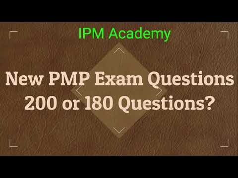 New PMP Exam Questions|How many questions in New ... - YouTube
