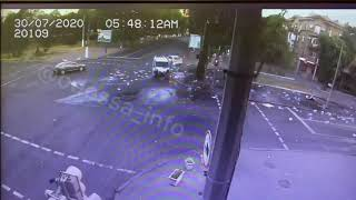 Появилось видео момента ДТП с участием патрульных  в Одессе
