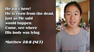 ★Matthew 28:6★Kids Recite Bible Verses | Memory Verse For Kids★ After Rainbow