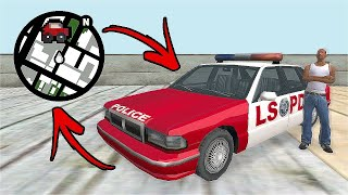 How To Unlock A Secret Infinite Health Red Police Car In GTA San Andreas! (Hidden Place)