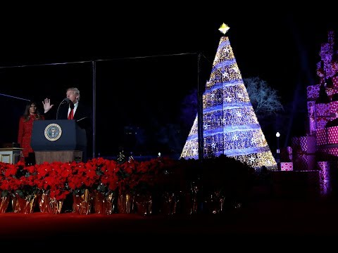 US National Christmas Tree officially lit up