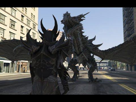 Grand Theft Auto 5 - Flying Dragon MOD - GTA Mods, Gameplays
