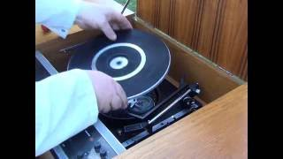 HMV Stereomaster radiogram 2419 -  Pt1 BSR turntable servicing