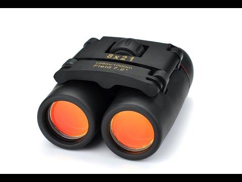 Mini Binoculares 8 x 21 zoom - Prismáticos plegables