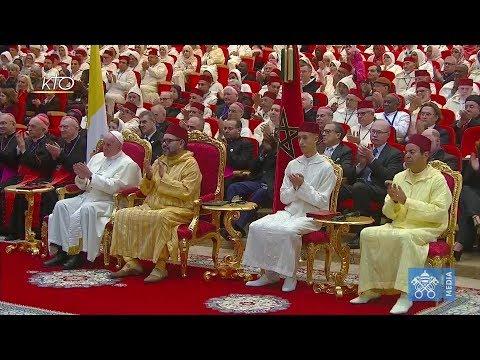Visite du pape François à l'Institut Mohammed VI