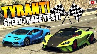 😁🏁Zieht Er Sie ALLE? TYRANT Speed + Race Test!🏁😁 [GTA 5 Online Super Sport Series Update DLC]