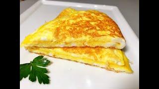 БЫСТРЫЙ ЗАВТРАК, Сырный Хрустящий Омлет за 3 минуты. Вкуснота неописуемая. Сheese Оmelette.