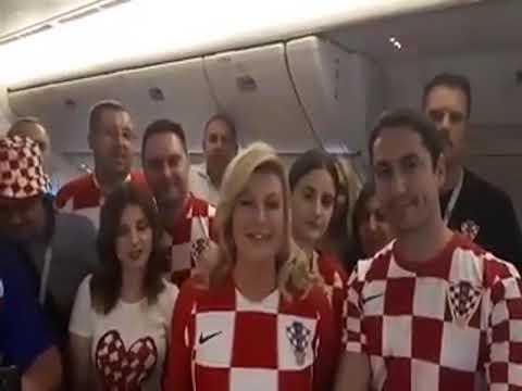 Перед финалом ЧМ президент Хорватии заговорила на русском