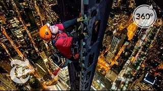 Climbing 1 World Trade Center: Man on Spire   360 VR Video   The New York Times