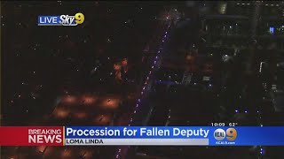 Procession Held For Fallen Deputy