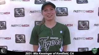 2021 Mia Kessinger First Base and Third Base Softball Skills Video