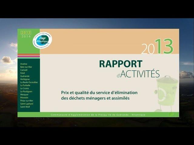 Rapport annuel sur le prix et la qualité du service public d'élimination des déchets 2013