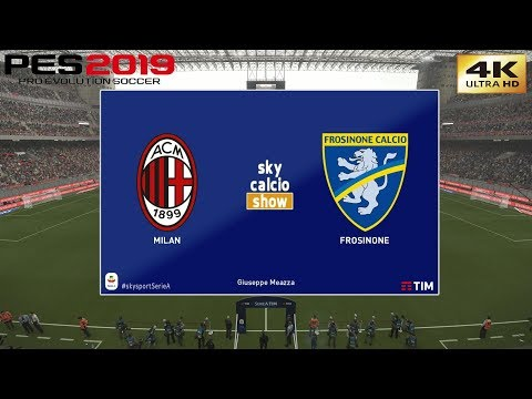 PES 2019 (PC) AC Milan vs Frosinone | REALISTIC SERIE A PREDICTION | 19/5/2019 | 4K 60FPS