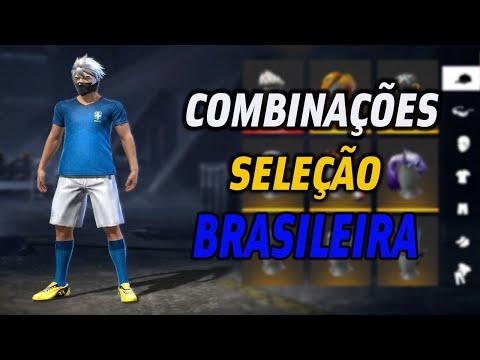 MELHORES COMBINAES DE ROUPAS NO FREE FIRE - SELEO BRASILEIRA - S COMBINAO TOP