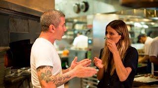 Eden Eats NYC, with chef Mike Solomonov at Zahav (hummus and laffa bread)