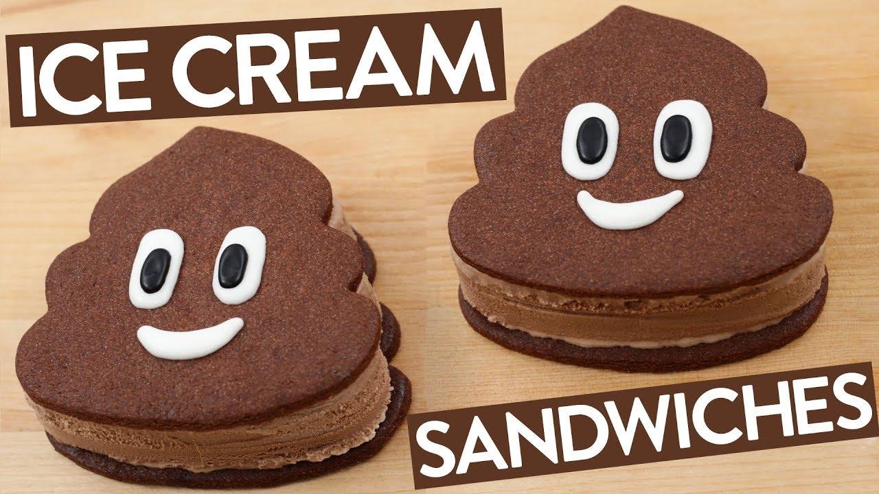POOP EMOJI ICE CREAM SANDWICHES - NERDY NUMMIES thumbnail