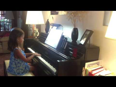 "Beginning-level piano student plays ""Three Wise Monkeys."""