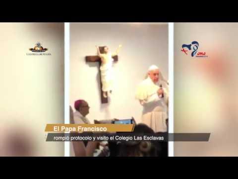 El papa Francisco visitó el Colegio Las Esclavas