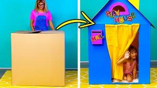 Как сделать теремок своими руками из коробки