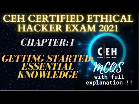CEH Certified Ethical Hacker Exam 2021|Chapter:1 Getting Started ...