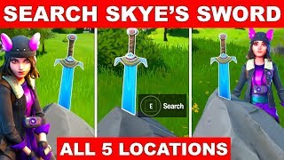 Search Skye's Sword in a stone found in high places