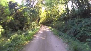 preview picture of video 'rando vtt ancienne voie ferré dans le perche 11/12 septembre 2014'