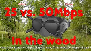 25 vs 50Mbps - New DJI FPV System Firmware 1.00.06.00 - In The Wood