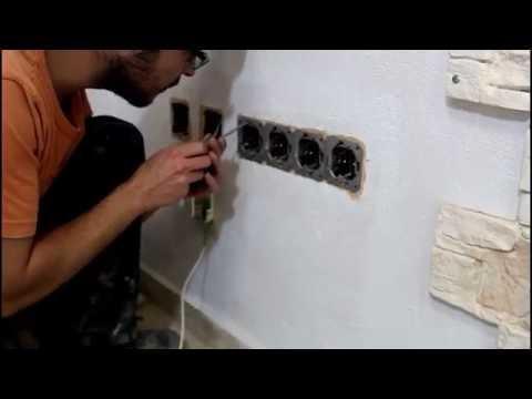 Instalación paneles Terra XL en paredes con enchufes – Paneldeco