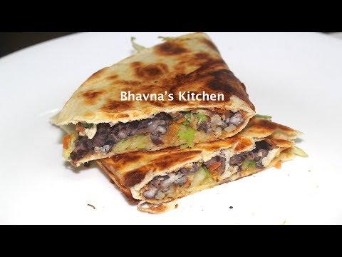 Black Bean & Cabbage Quesadillas Video Recipe | Bhavna's Kitchen