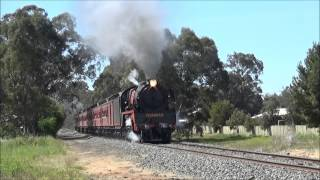 preview picture of video 'Steamrail's K153 & R761: Echuca Rail 150th Shuttles'