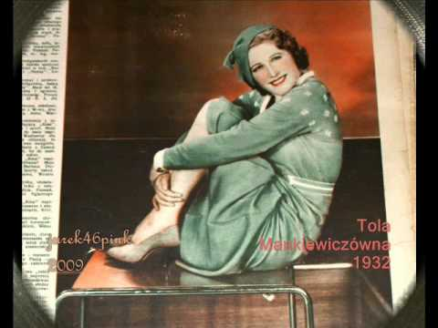 """La Paloma"" in the Polish mode.... - Tola Mankiewiczówna, 1935 !"