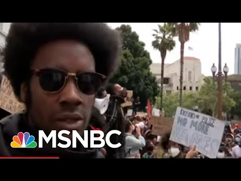 LA Protestors: 'Looking For The Resignation Of Mayor Garcetti' | MTP Daily | MSNBC