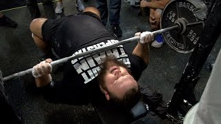 Otis Dozovic Bench Presses 225 Pounds For 46 Repetitions At The NXT Combine