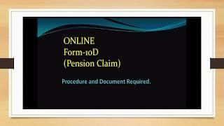 Online Form 10D Pension