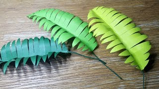 DIY PAPER PALM LEAVES  | EASY PAPER CRAFTS TUTORIAL