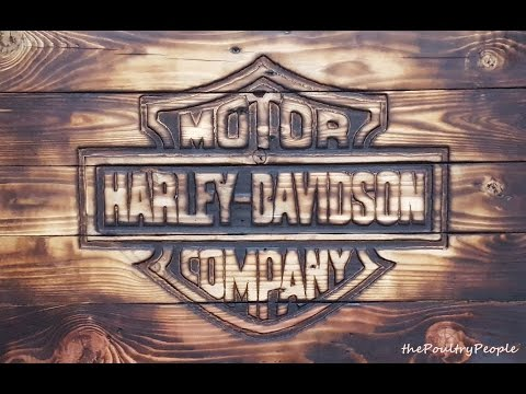 How to make a Wood Wall sign out of FREE pallets Harley Davidson