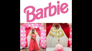 #1stBirthdayDecoration#BarbieThemeDecoration  Barbie Theme Decorations Barbie Theme Decorations