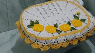 Tapete Da Tampa Do Vaso IPÊ  - De Crochê Fácil #semprecirculo  #elizabethsilva