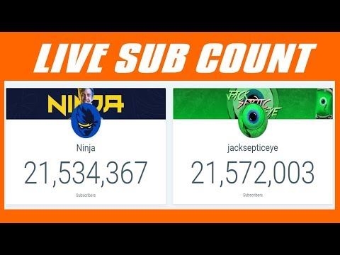 JACKSEPTICEYE VS NINJA LIVE SUB COUNT - THE END IS NEAR