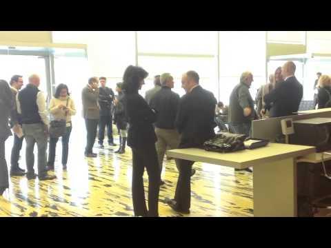 Sala stampa in attesa al Pirellone