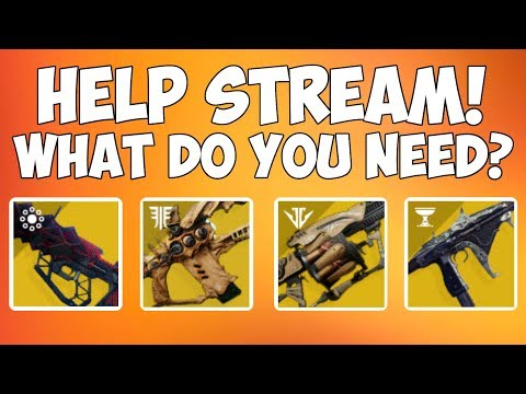Destiny 2   Help Stream With Exotic Weapons! Bad Juju, Outbreak Perfected, Whisper, Thorn!