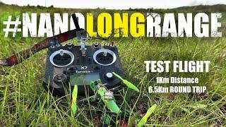 #NanoLongRange Test Flight - DIY 3D Printed FPV Drone - 1S 18650