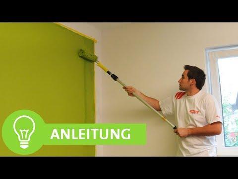 Wände streichen: Wände einfach farbig streichen mit sauberen Kanten