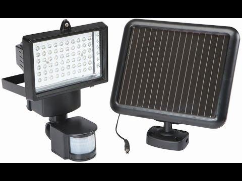 Reflector Solar de 60 LEDS con Sensor de Movimiento