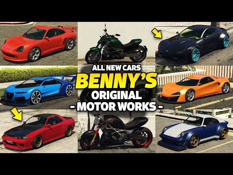GTA 5 Online - ALL BENNY's CAR ON ONE PLACE [UPGRADE PRICE