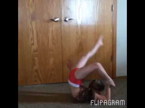Super flexible little girl