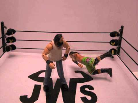 JWS - Luke Harper DESTROYS Jimmy Uso! (Clothesline)