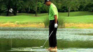 Tiger Woods walking on water