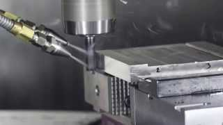 Cryogenic CO2 machining trials