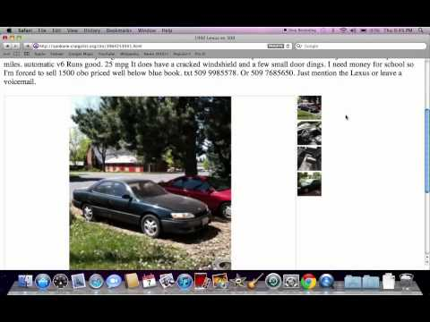 Craigslist Coeur d'Alene Idaho Used Cars - For Sale By Owner Models in 2012